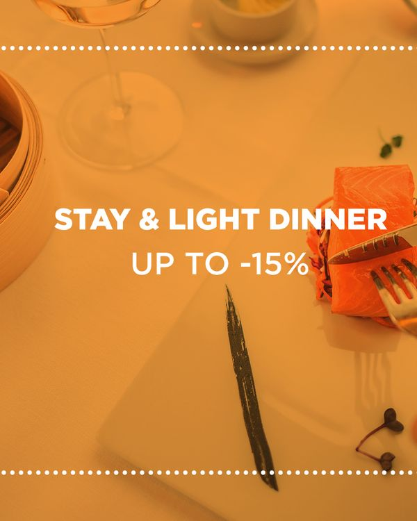 Stay and light dinner banner